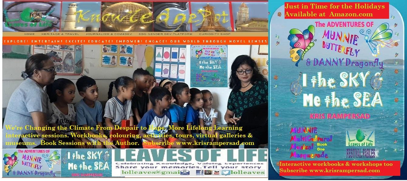 Kindergarten Kids explore Festival Fables with Dr Kris Rampersad