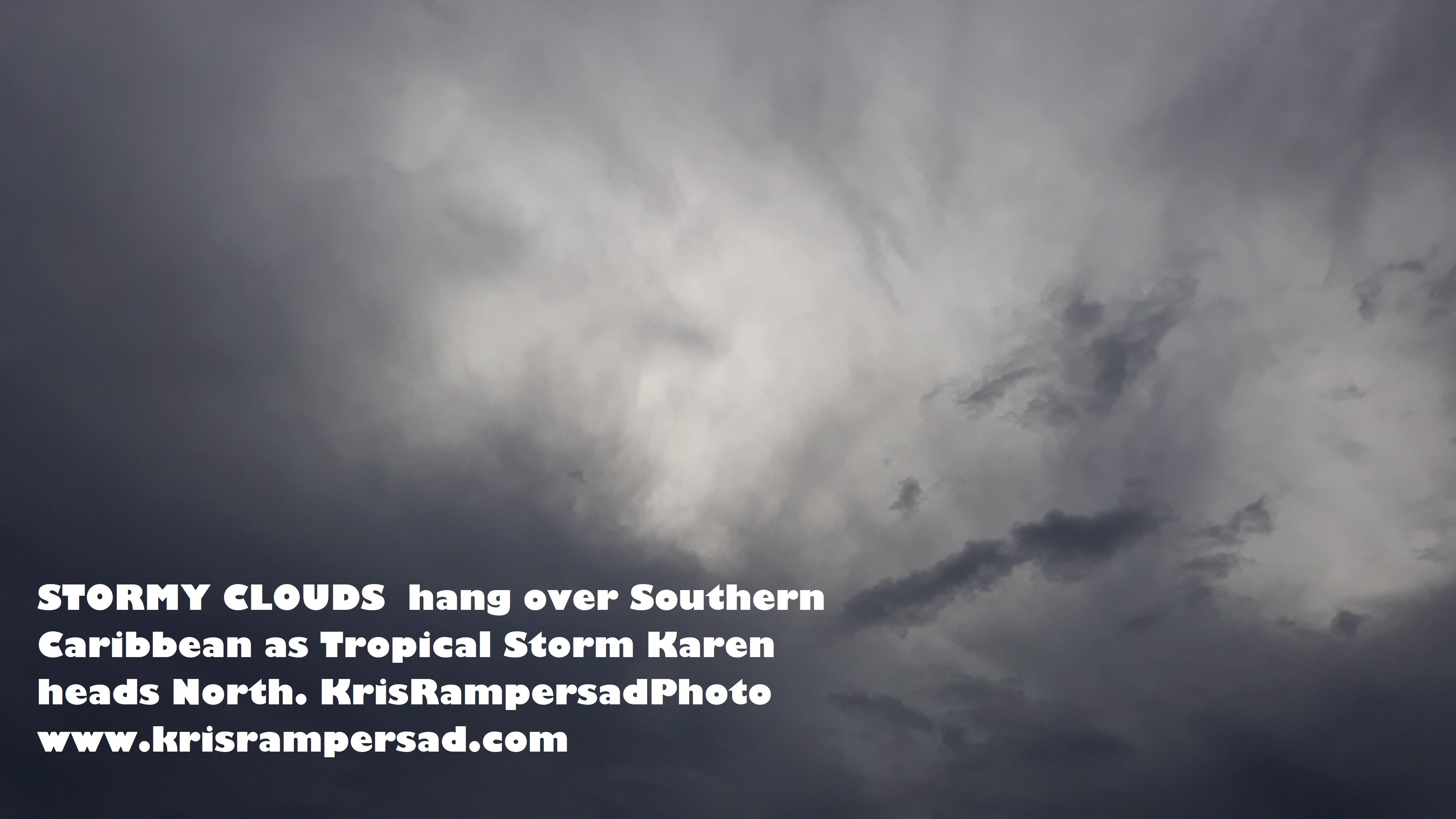 Black skies as Tropical Storm Karen leaves floods